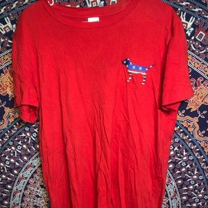 Red/America shirt from pink
